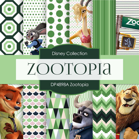 Zootopia Digital Paper DP4898A - Digital Paper Shop - 1