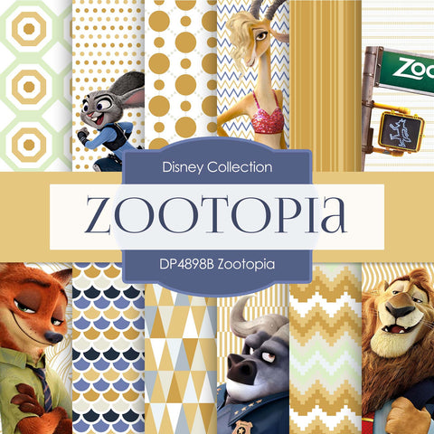 Zootopia Digital Paper DP4898B - Digital Paper Shop - 1