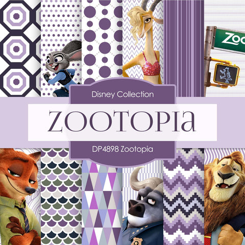 Zootopia Digital Paper DP4898C - Digital Paper Shop - 1