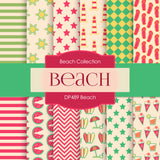 Beach Digital Paper DP489 - Digital Paper Shop - 1