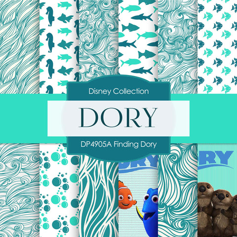 Finding Dory Digital Paper DP4905B - Digital Paper Shop - 1