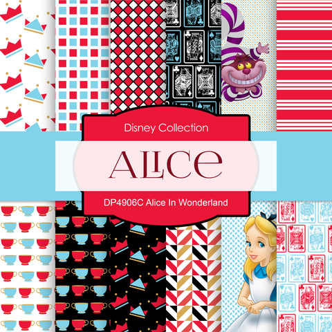 Alice In Wonderland Digital Paper DP4906C - Digital Paper Shop - 1