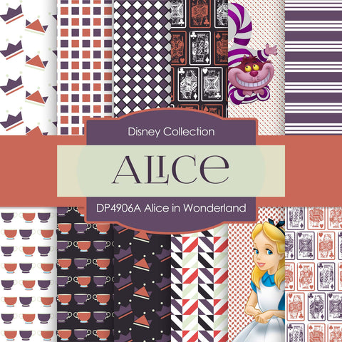 Alice In Wonderland Digital Paper DP4906A - Digital Paper Shop - 1