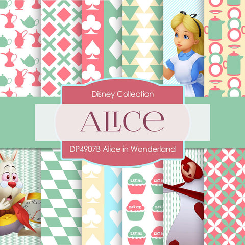 Alice In Wonderland Digital Paper DP4907C - Digital Paper Shop - 1