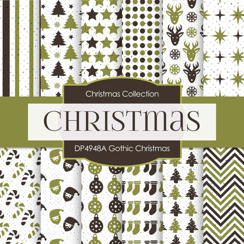 Gothic Christmas Digital Paper DP4948A - Digital Paper Shop - 1