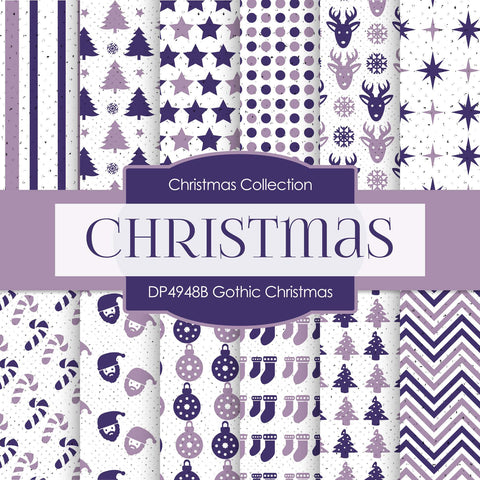 Gothic Christmas Digital Paper DP4948B - Digital Paper Shop - 1