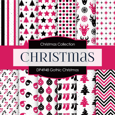 Gothic Christmas Digital Paper DP4948 - Digital Paper Shop - 1