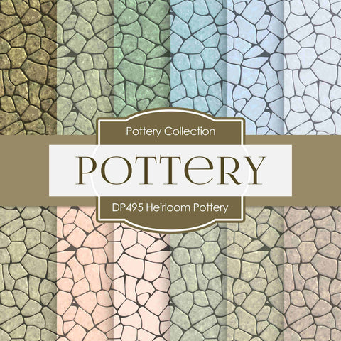 Heirloom Pottery Digital Paper DP495 - Digital Paper Shop - 1