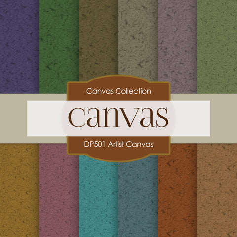 Artist Canvas Digital Paper DP501 - Digital Paper Shop - 1