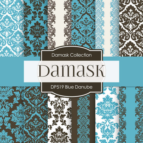 Blue Danube Digital Paper DP519 - Digital Paper Shop - 1