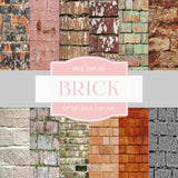 Brick Textures Digital Paper DP542 - Digital Paper Shop - 1