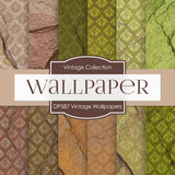 Vintage Wallpapers Digital Paper DP587 - Digital Paper Shop - 1