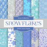 Snow Digital Paper DP591 - Digital Paper Shop - 1