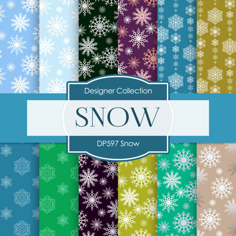 Snow Digital Paper DP597 - Digital Paper Shop - 1