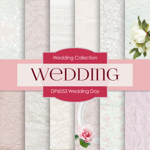 Wedding Day Digital Paper DP6053 - Digital Paper Shop - 1