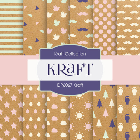 Kraft Digital Paper DP6067 - Digital Paper Shop - 1
