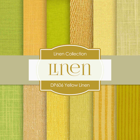 Yellow Linen Digital Paper DP606 - Digital Paper Shop - 1
