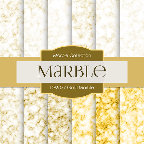 Gold Marble Digital Paper DP6077