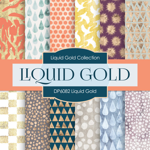 Liquid Gold Digital Paper DP6082