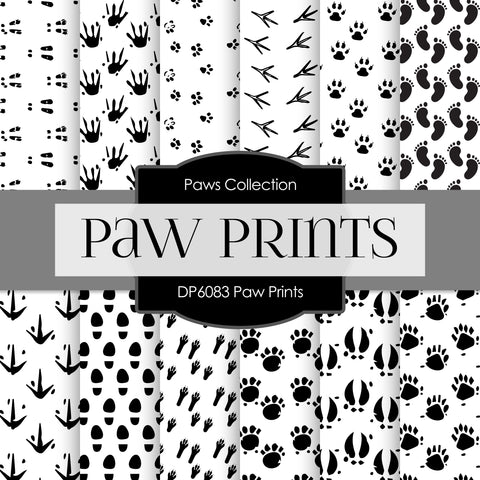 Paw Prints Digital Paper DP6083