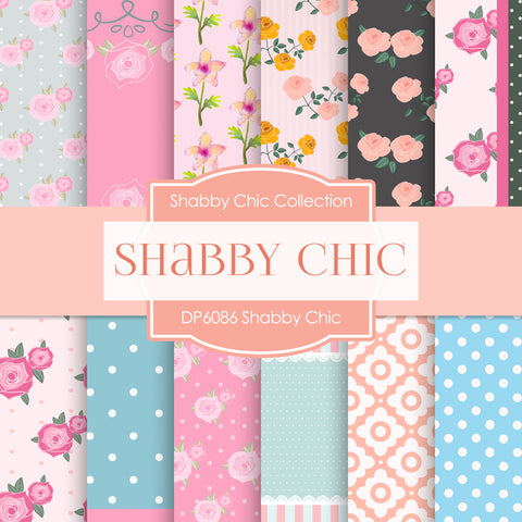 Shabby Chic Digital Paper DP6086A
