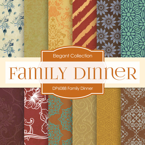 Family Dinner Digital Paper DP6088A