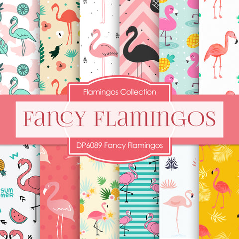 Fancy Flamingos Digital Paper DP6089A