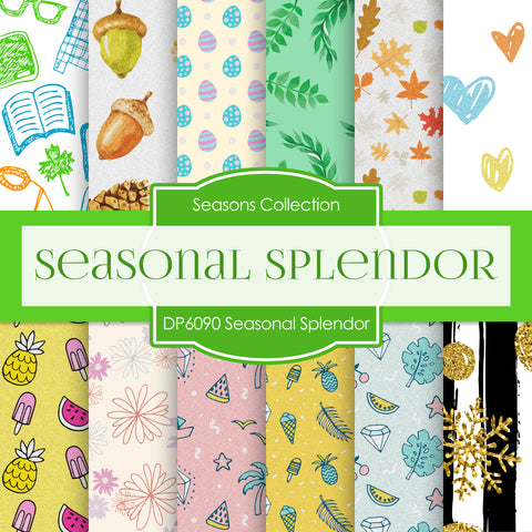 Seasonal Splendor Digital Paper DP6090A