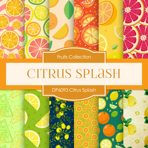 Citrus Splash Digital Paper DP6093