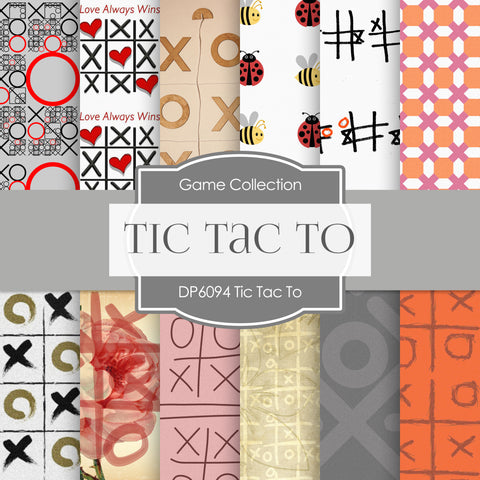 Tic Tac To Digital Paper DP6094A