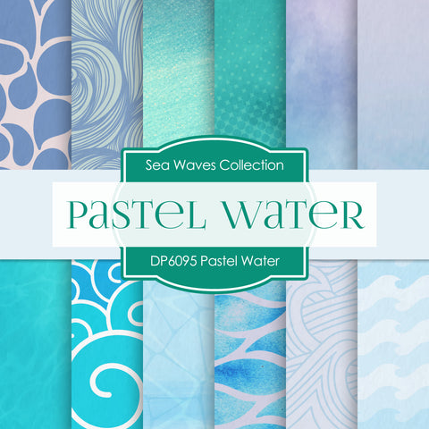 Pastel Water Digital Paper DP6095A