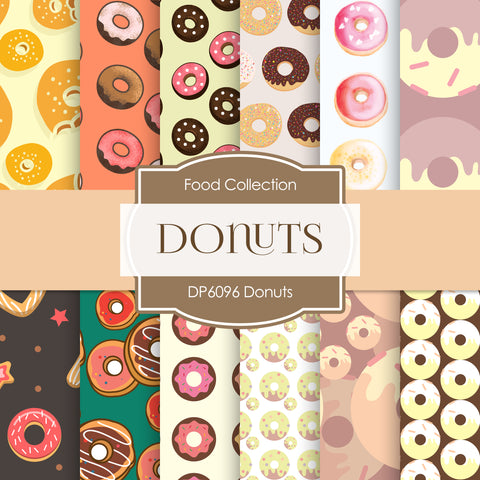 Donuts Digital Paper DP6096
