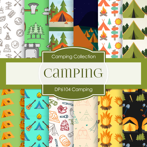 Camping Digital Paper DP6104