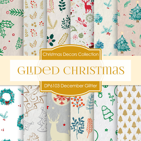 Glided Christmas Digital Paper DP6104A