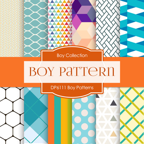 Boy Patterns Digital Paper DP6111