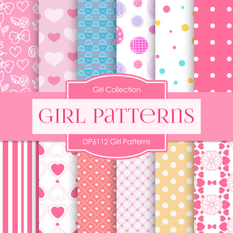 Girl Patterns Digital Paper DP6112