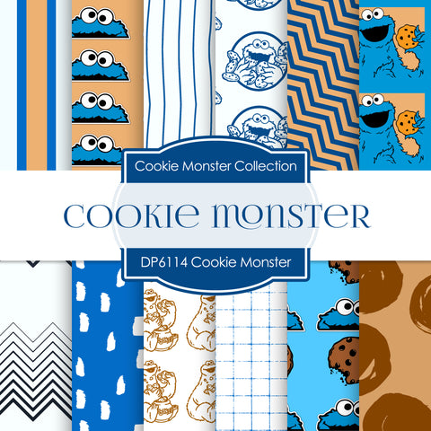 Cookie Monster Digital Paper DP6114A