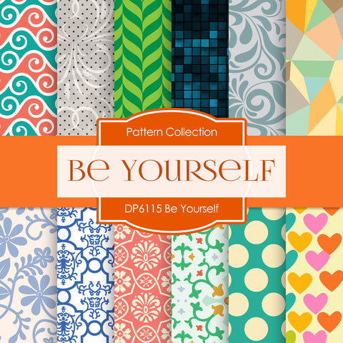 Be Yourself Digital Paper DP6115