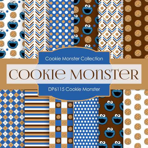 Cookie Monster Digital Paper DP6115