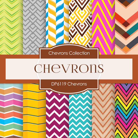 Chevrons Papers Digital Paper DP6119A