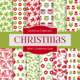 Christmas Owls Digital Paper DP611A - Digital Paper Shop - 1