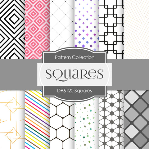 Squares Digital Paper DP6120B