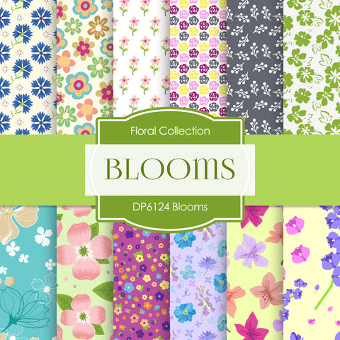 Blooms Digital Paper DP6124A