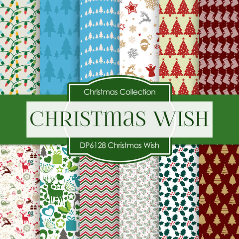 Christmas Wish Digital Paper DP6128A