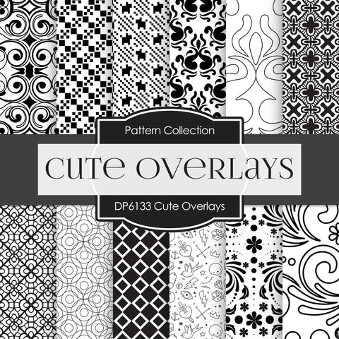 Cute Overlays Digital Paper DP6133A