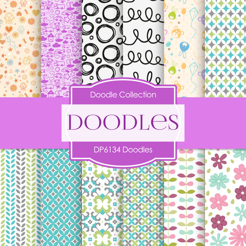 Doodles Digital Paper DP6134