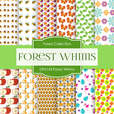 Forest Whims Digital Paper DP6143A