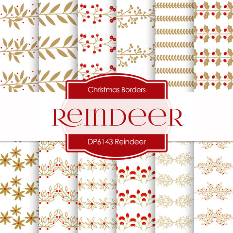 Reindeer Digital Paper DP6143