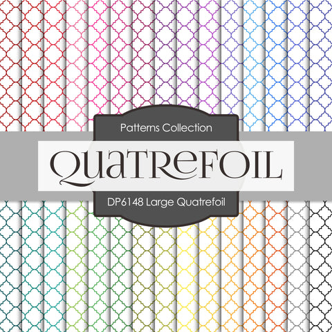 Large Quatrefoil Digital Paper DP6148A