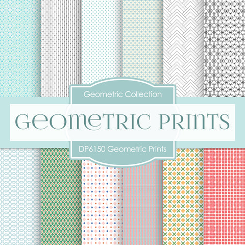 Geometric Prints Digital Paper DP6150B